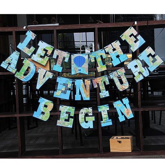 WERNNSAI Suministros Decoración para La Fiesta Pancartas Bon Voyage Aventura Aguarda Un Banderín Pancartas para Graduación Jubilación Fiesta Temática De ...