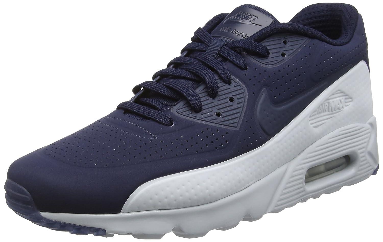 Nike Herren Air Max 90 Ultra Moire Laufschuhe  455 EU|Blau (Obsidian/Obsidian/Pure Platinum)