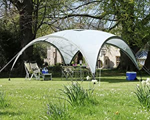 MASTERCANOPY Dome Sun Shelter,Event Shelter for Large Garden Camping,Portable Outdoor Gazebo with Sun Protection SPF 50+ (10x10, Grey)