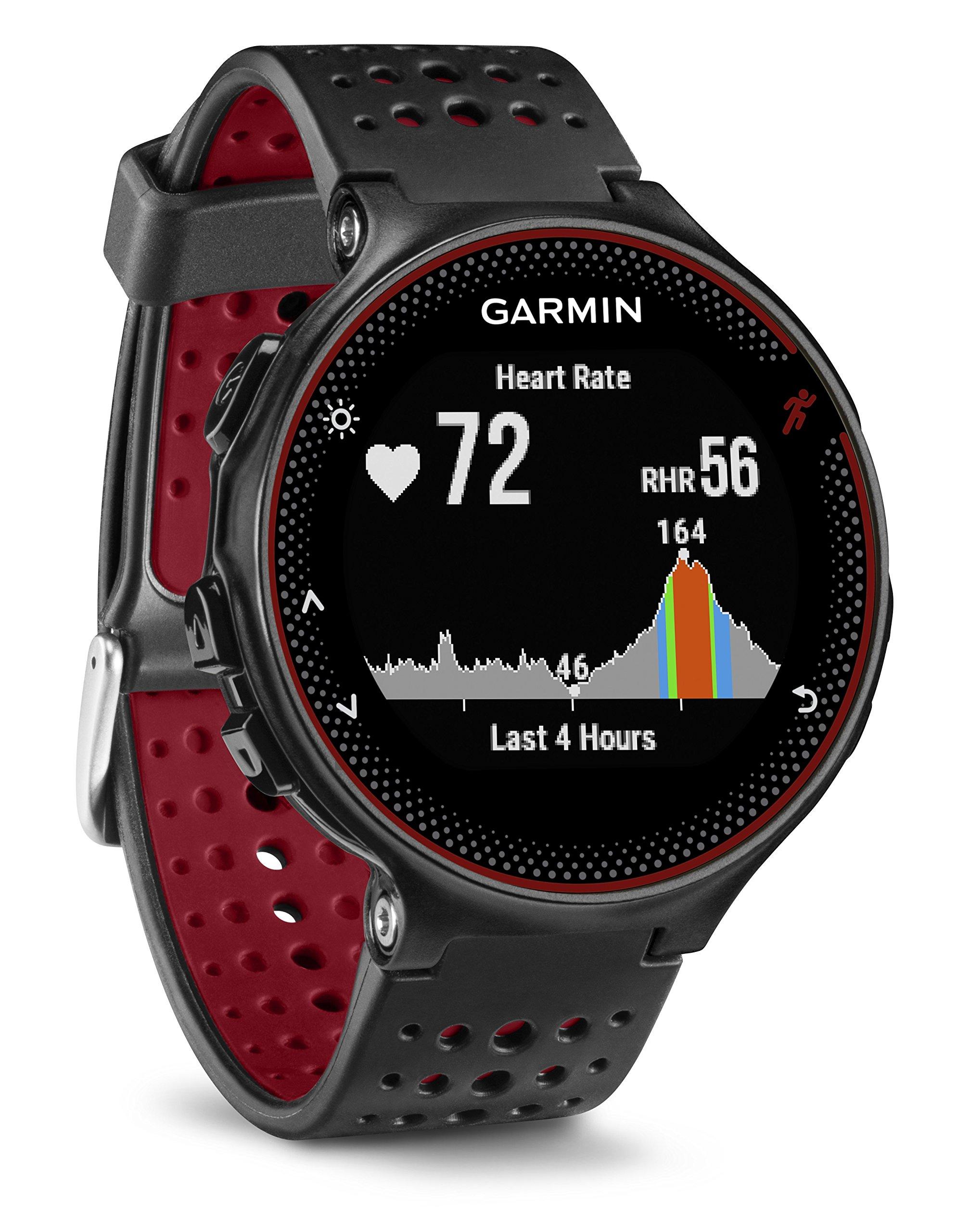 Garmin Forerunner 235 GPS Sportwatch con Sensore Cardio al Polso e Funzioni Smart, Nero/Rosso product image