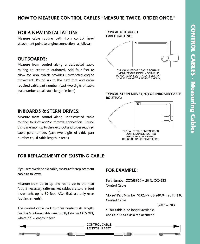 SeaStar CCX17911 11 Feet XTREME Mercury 600A Type Control Cable