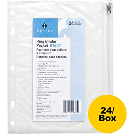 Amazon.com : Business Source Punched Economy Binder Pocket ...