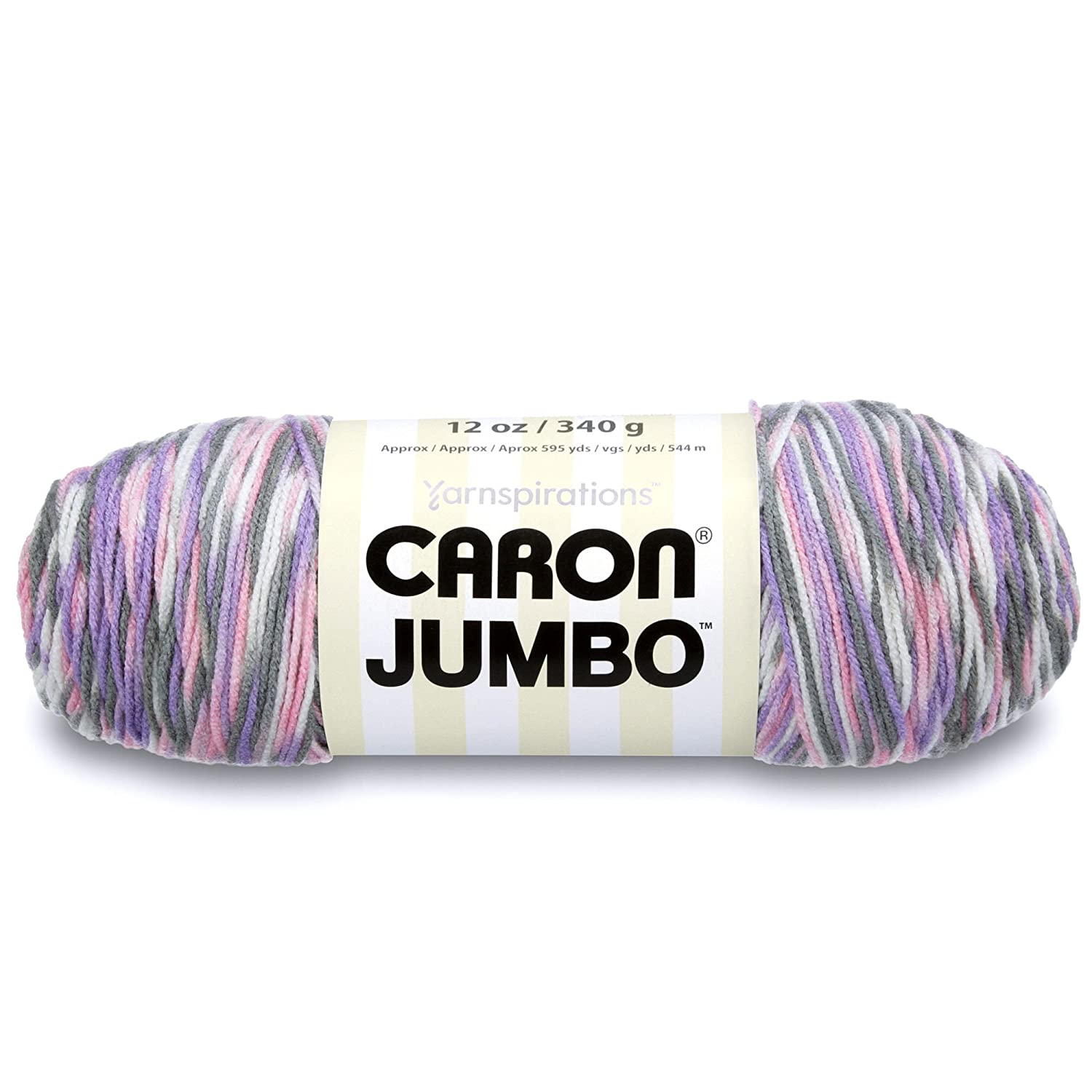 Caron Jumbo Ombre Yarn -Medium Worsted Gauge 4 thickness of the yarn -100% Acrylic- 12 oz - Peacock - Machine Wash & Dry Spinrite 327699