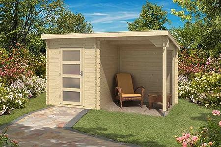 Caseta de jardín G176 con techo de arrastre – Caseta de listones de 28 mm, superficie: 6,35 m2, techo de plantas.: Amazon.es: Bricolaje y herramientas