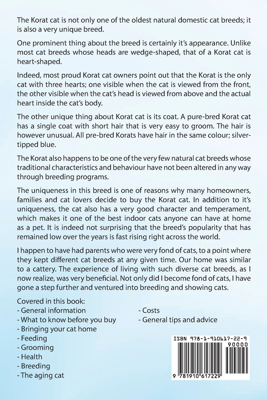 Korat Cats. Korat Cat Owners Manual. Korat Cat care, personality, grooming, health, training, costs and feeding all included.