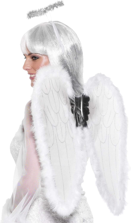 Feather Smiffys Fancy Dress Angel Wings White