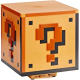 Paladone Super Mario Brothers Question Block Lamp, Light Up Figure