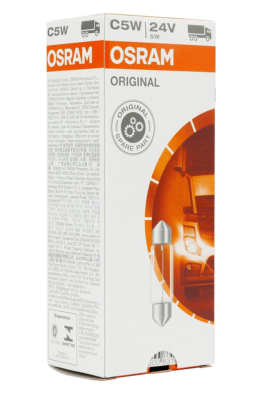 Doppelblister 6423-02B 24V Osram ORIGINAL Innenbeleuchtung C5W