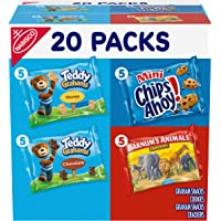 Nabisco Fun Shapes Cookie & Cracker Mix, Variety Pack with Teddy Grahams, Chips Ahoy! Cookies & Barnum's Animal Crackers…