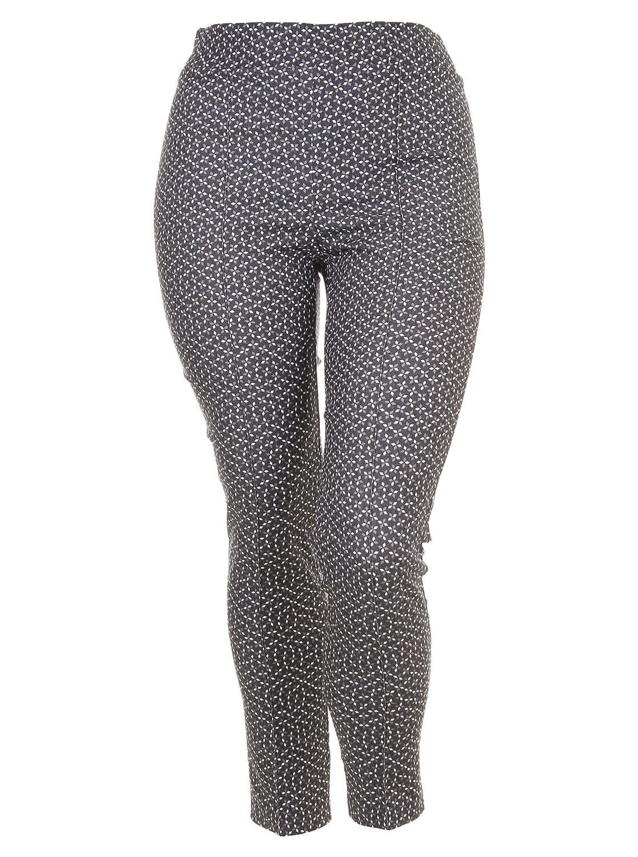 Hose mit grafischem Muster in schwarz/weiß/grau in Übergrößen (40, 42, 44, 48) von Joseph Ribkoff