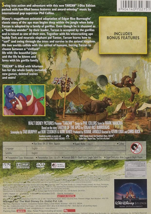 Amazon in: Buy Tarzan and Jane VCD DVD, Blu-ray Online at