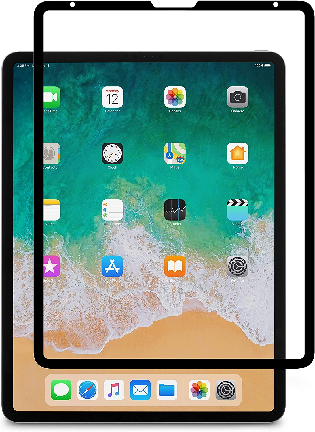 Moshi iVisor AG Screen Protector for iPad Pro 12.9 2020 & 2018, Anti-Glare, Matte, Washable & Reusable, Reduce Fingerprints & Smudging, Compatible with iPad Pencil, for iPad Pro 12.9 (2020 & 2018)