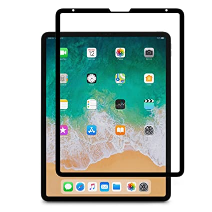 sports shoes cc99a 63fe1 Moshi iVisor AG Screen Protector for New 2019 iPad Pro 12.9 inch with  USB-C, 100% Bubble-Free and Washable, Compatible with Apple Pencil, Washable