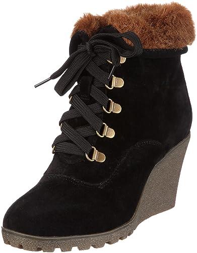Buffalo Girl 238631R SY SUEDE, Damen Kurzschaft Stiefel, Schwarz  (BLACK595), 37 522fb2c9e9