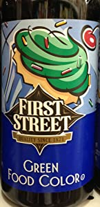 16oz Green Food Coloring Egg Color Dye First Street Brand