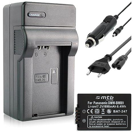 Batería + Cargador (Coche/Corriente) para Panasonic DMW-BMB9, Lumix DMC-FZ40. / Leica BP-DC9 Ver Lista