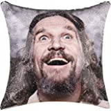 cygnus The Big Lebowski Sequin Pillow Cover 16x16 inch Reversible Mermaid Sequin Throw Pillow Cover Funny Gag Gifts (The Big Lebowski)