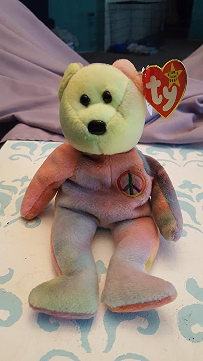 Amazon.com  Ty Beanie Babies - Peace the Ty-Dyed Teddy Bear  Toys ... 6655970ea6c