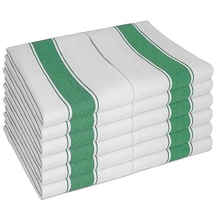 SMARTZ® PAÑOS DE COCINA clásicos con lazo - 12 unidades (100% de algodón