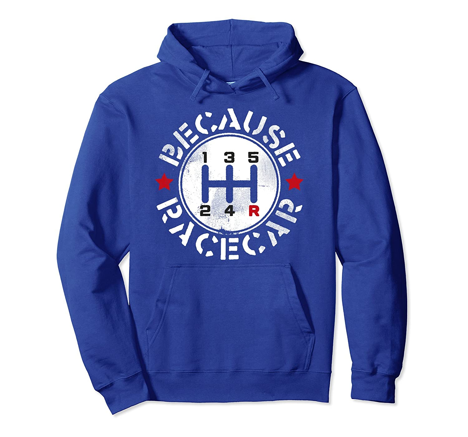 Three Pedals Manual Transmission Because Race Car Hoodie-Bawle