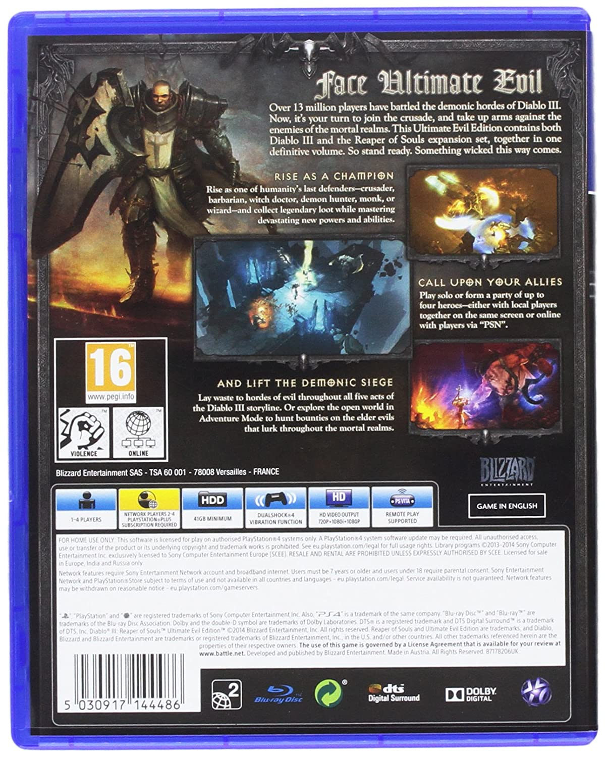 Diablo III: Reaper of Souls - Ultimate Evil Edition (PS4): Amazon co