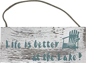 Preferred Crafts Rustic Decor Life is Better at The Lake Hanging Sign or Plaque