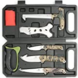 MOSSY OAK 8-Piece Field Dressing Kit Hunt Processing Portable Butcher Game Processor Set with Gloves