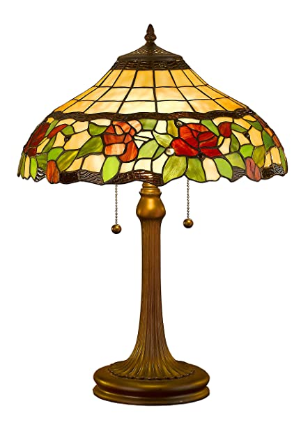 Amora lighting am006tl16 tiffany style floral table lamp 23 inch multi