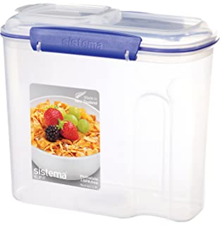 Sistema KLIP IT Cereal Container, 2.8 L   Clear With Blue Clips