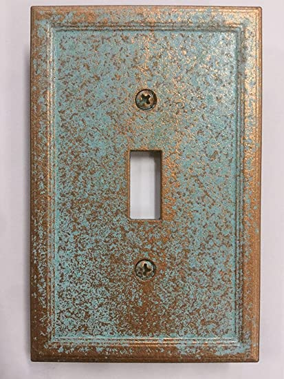 amazon com aged patina light switch cover custom copper patina rh amazon com Kitchen Light Plate Covers Steller Pittburg Light Plate Covers