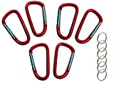 """Gold Lion Gear 12 Pack - 3"""" Red Aluminum Carabiner"""
