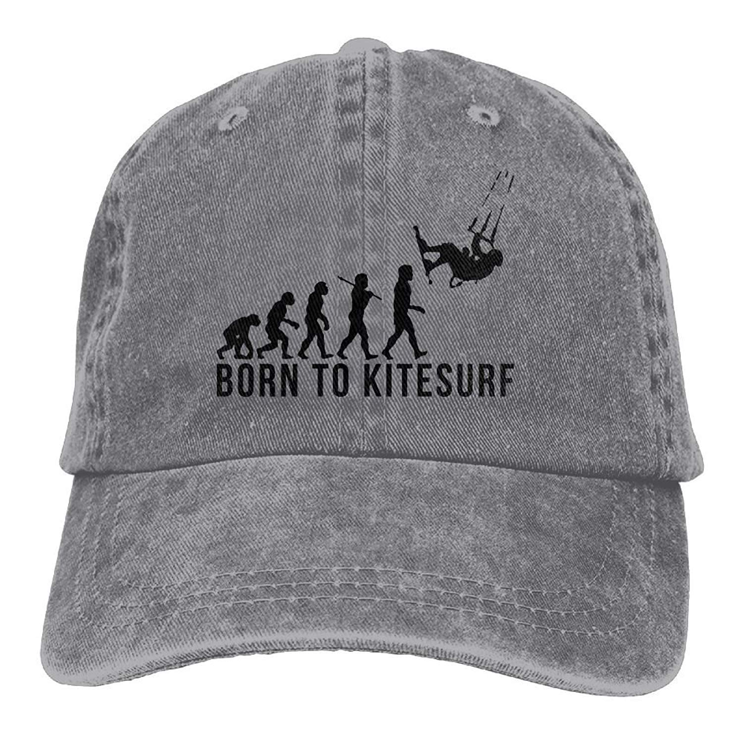 JTRVW Huagestroe Kitesurfing Evolution Born to Kitesurf Cowboy Visor Rear Cap Adjustable Cap
