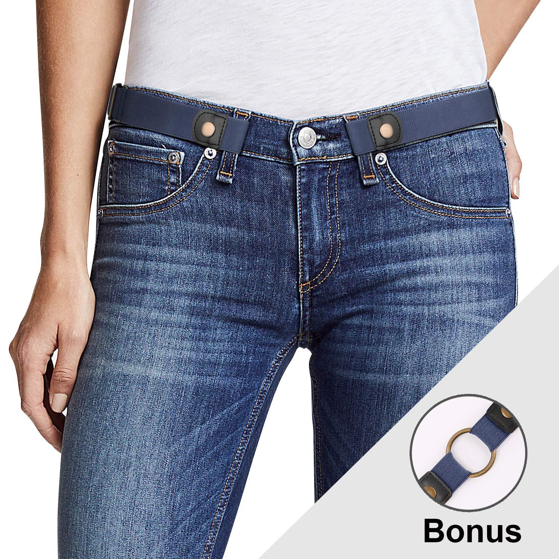 Women No Buckle Elastic Belt Ladies Invisible Waist Plus Size Belt for Jeans Pants Dresses By JasGood