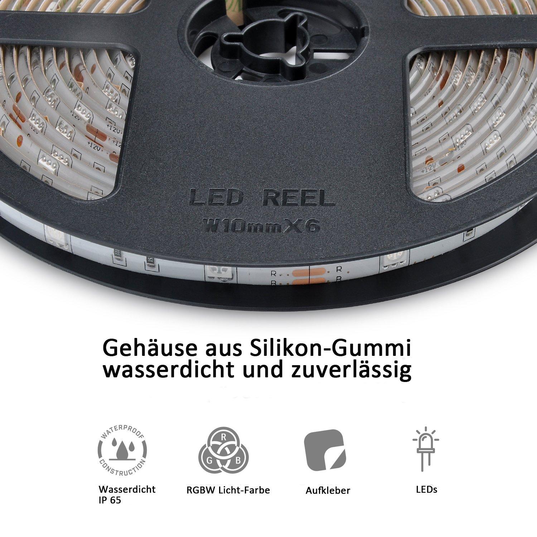 10m LED Stripe mit Fernbedienung LED Streifen Gedächtinis Memory ...