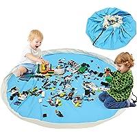 BELLESTYLE Kinderspielzeug-Aufbewahrungsbeutel, Baumwoll-Segeltuch-bewegliches großes einfaches aufgeräumtes Spiel u. Aufbewahrungs-Matte - schnellere Aufräumung!