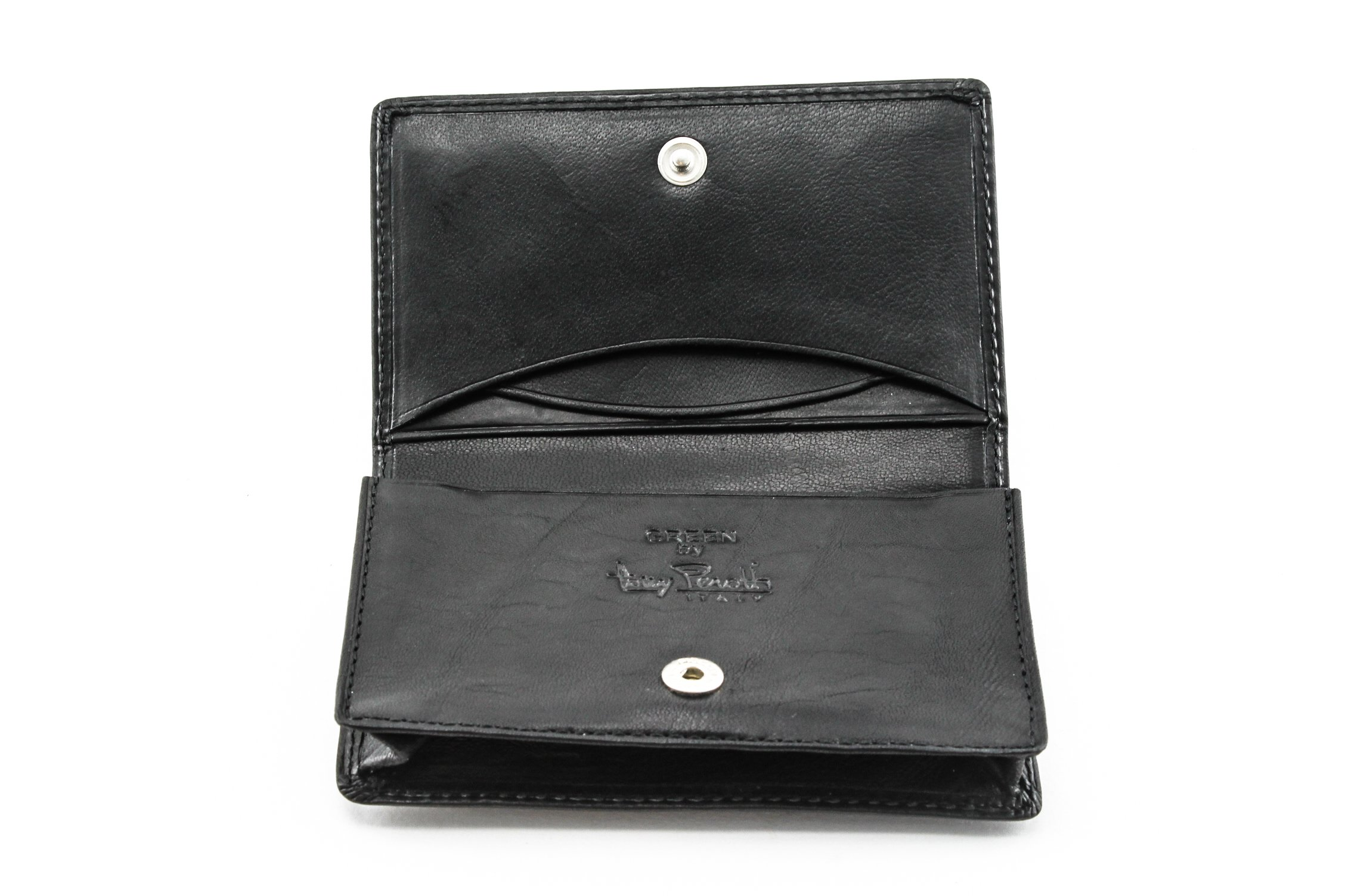 Italian Leather Prima Business &Credit Card Case Wallet (Black) by Tony Perotti