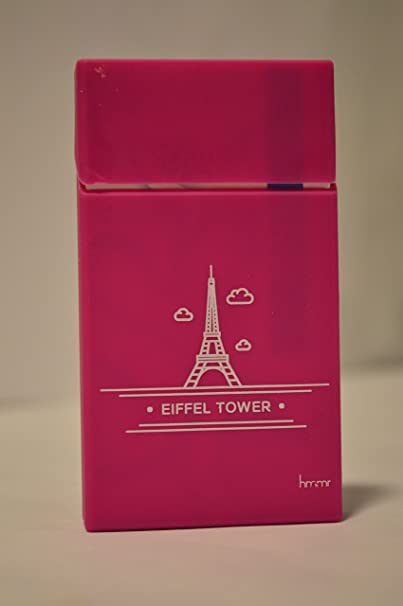 AshPro Silicone case for (Slim Cigarettes Pack) -Eiffel Tower Pink