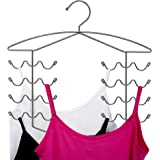 CAXXA 2 PK - Chrome Women's Bra Sport Tank Camisole Top Swim Suit Strap Dress Hanger Closet Organizer