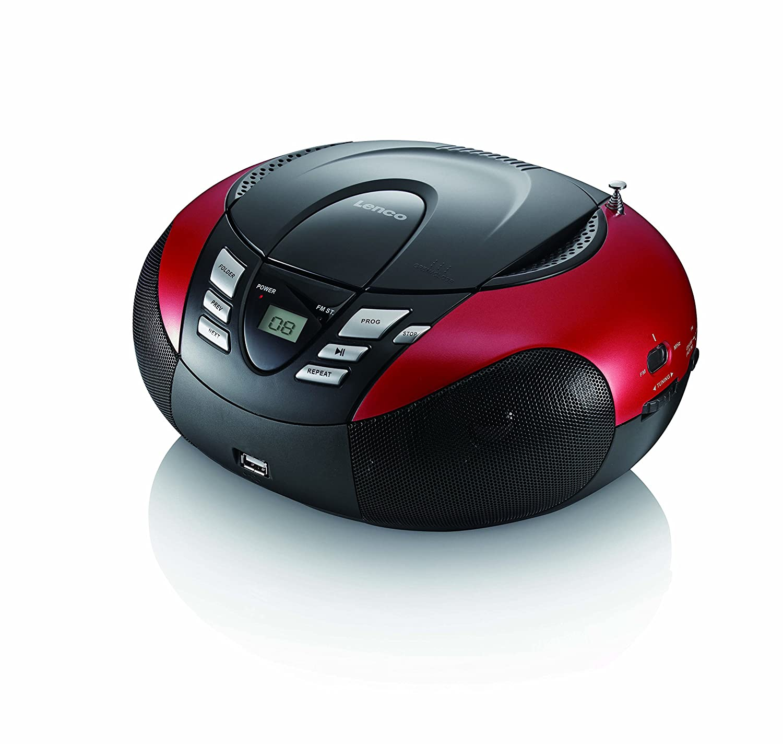 Radio portable lecteur CD USB Lenco SCD-37 Rouge