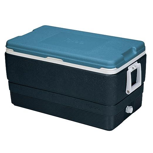 Igloo MaxCold refrigerador, carbón Azabache/Azul Hielo/Blanco, 50 ...