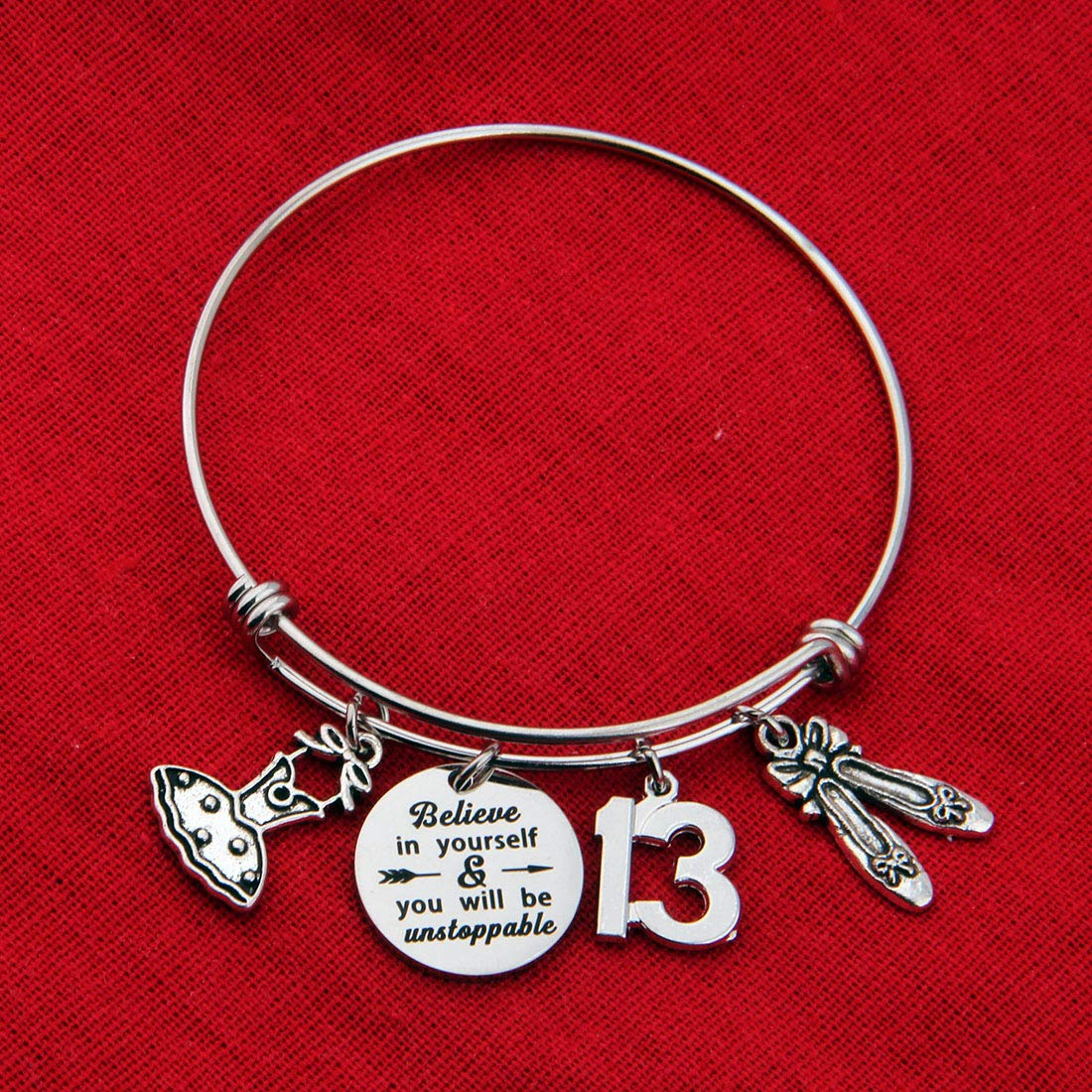 Birthday Bracelet Gifts for Her 13th Sweet 16 18th 21st Inspiration Birthday Bangle Bracelet Jewelry for Girls