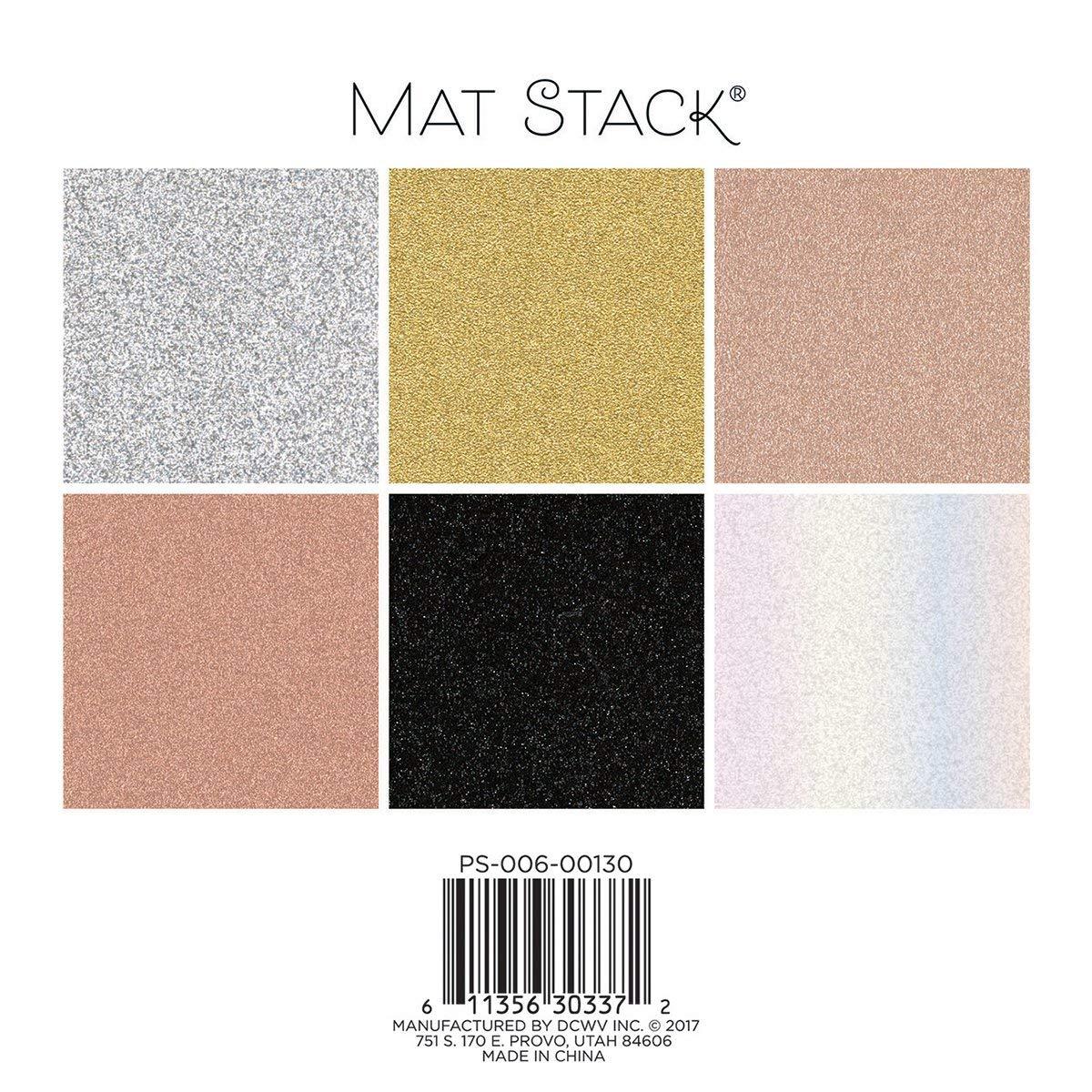 Metallics American Crafts PS-006-00130 Dcwv 6 x6 Glitzy Cardstock Stack 6x6