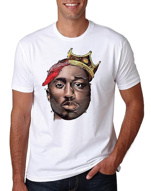 271740bf0 LuckyTshirt Gangsta Rap 2pac Notorius Big ART Hip Hop Music Tee Xmas  Birthday Gift: Amazon.co.uk: Clothing