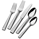 Mikasa Kyler 65-Piece 18/10 Stainless Steel Flatware Set with Serveware, Service for 12