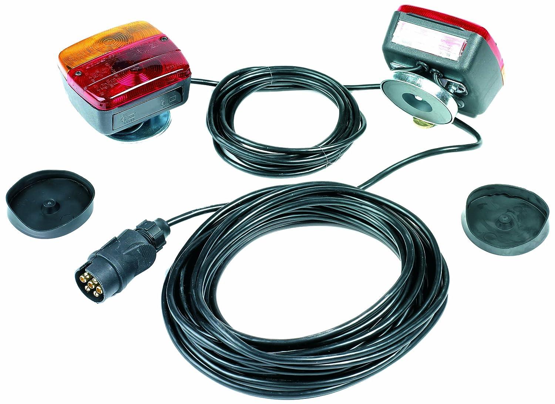 Ring Automotive RCT800 Kit Magnétique pour Plaque de Remorquage, 12/4 m