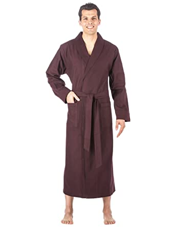 ed1e9f8920 Noble Mount Mens Premium 100% Cotton Flannel Long Robe at Amazon ...