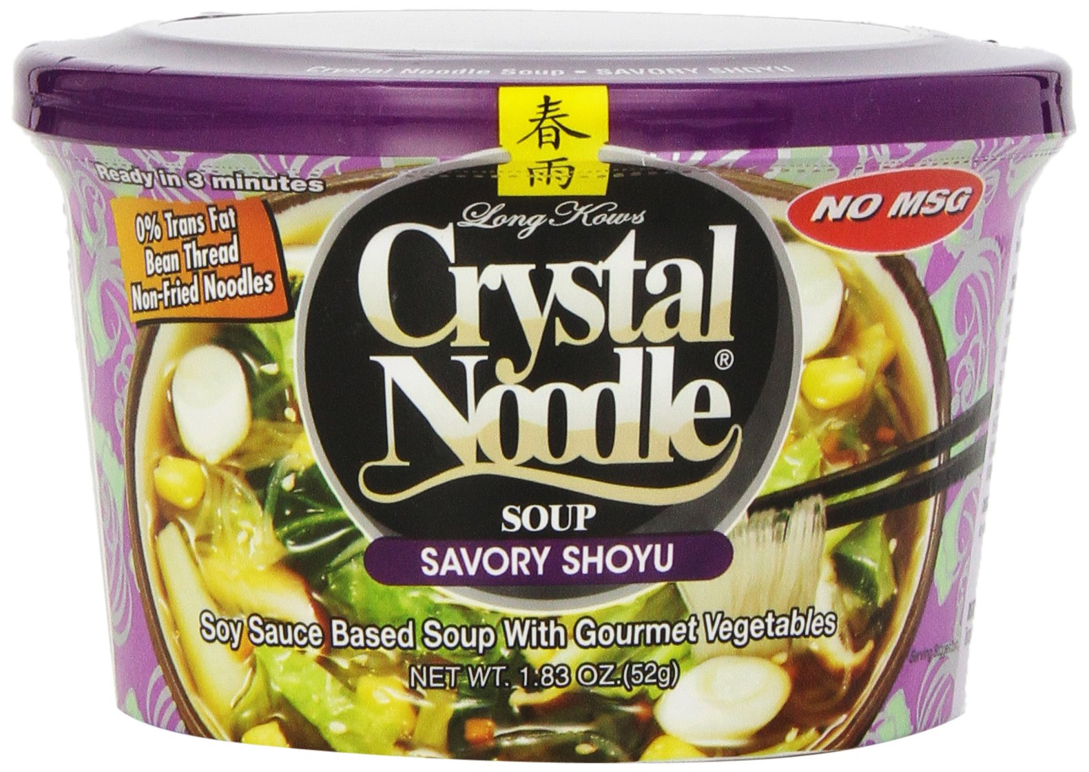 Crystal Noodle Soup, Savory Shoyu, 1.83 Ounce (Pack of 6) by Crystal Noodle