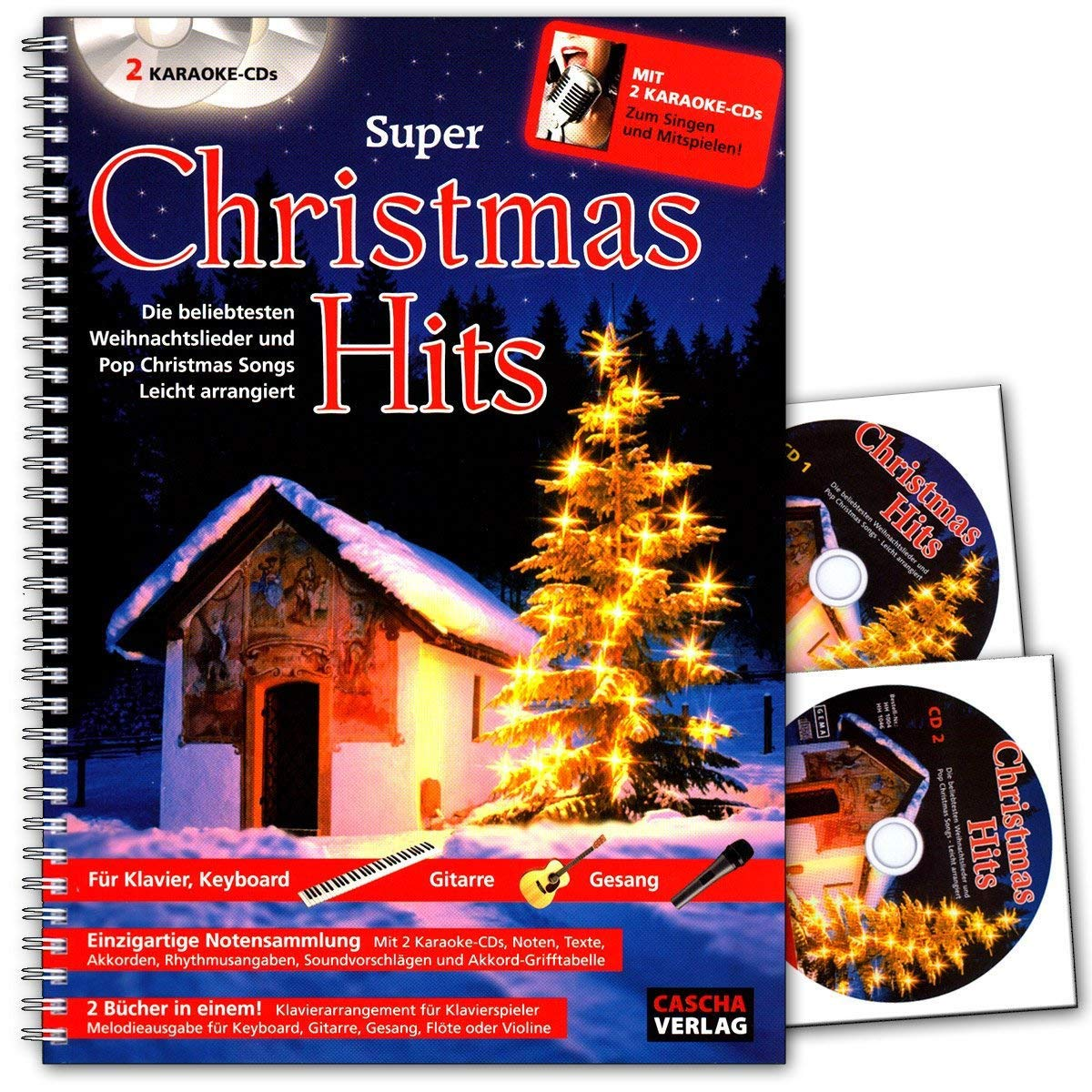Super Christmas Hits mit 2 Karaoke-CDs : 2 Bücher in einem ...