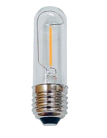 fulight decorative led filament bulb t101w 15w equivalent soft white 2700k