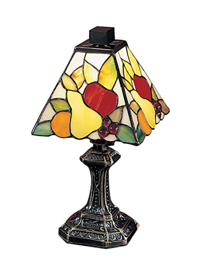 Dale tiffany ta100122 fruit mini table lamp antique brass and art dale tiffany ta100122 fruit mini table lamp antique brass and art glass shade aloadofball Images